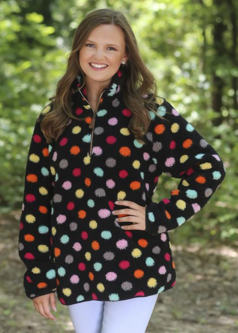 Girlie Girl Originals Multi Black Dot Sherpa