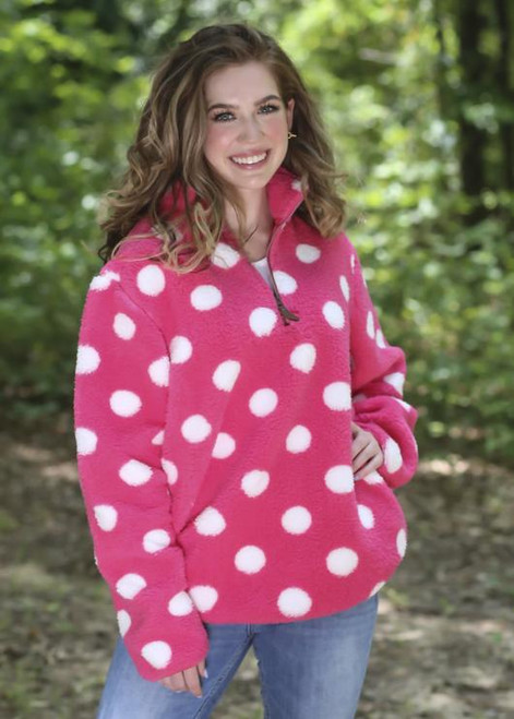 Girlie Girl Originals New Candy Dot Pink White Sherpa