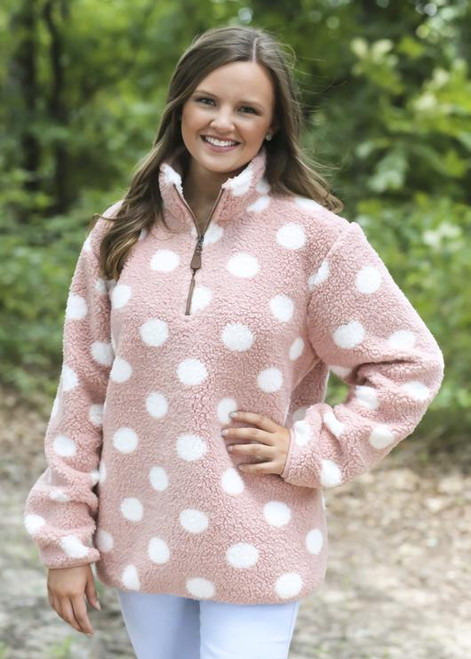 Girlie Girl Originals Dot Indi Pink White Sherpa