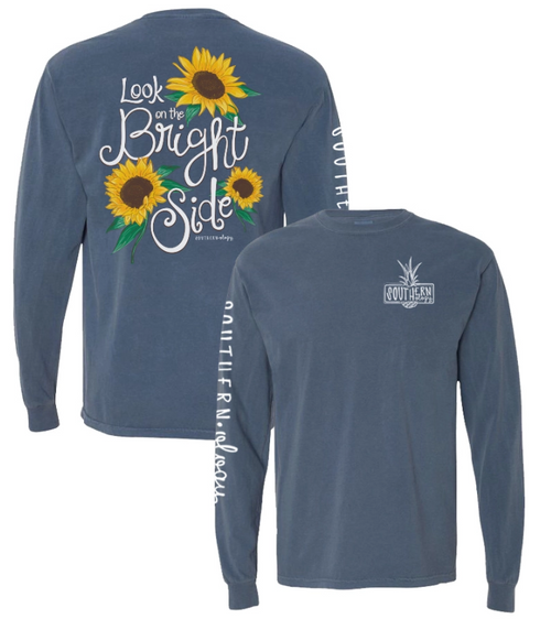 Southernology Look on The Bright Side Denim LS