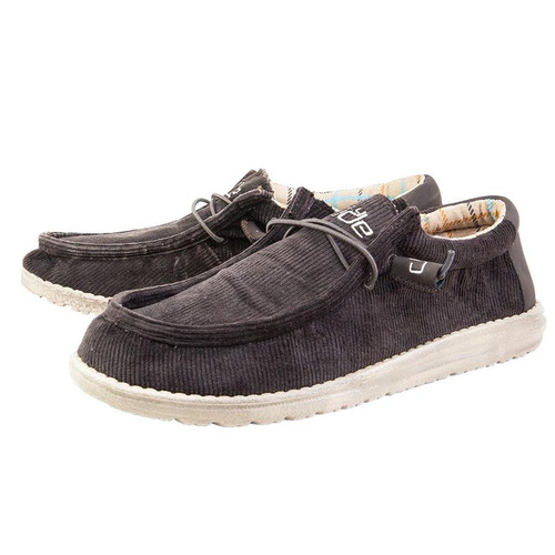 Hey Dude Wally Corduroy Brown Shoes
