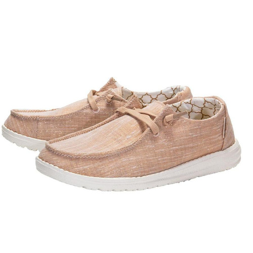 Hey Dude Wendy Sparkling Rose Gold Shoes