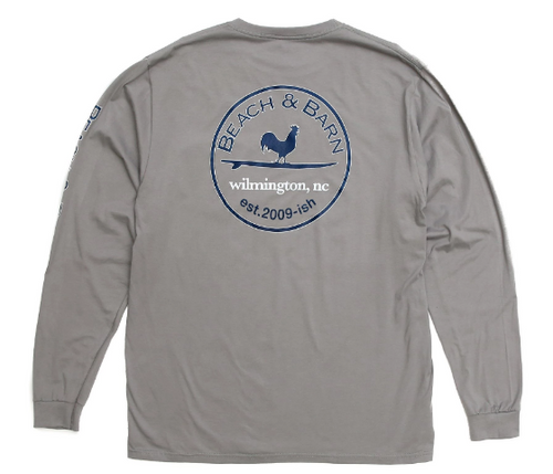 Beach & Barn Emblem Pocket Tee LS-Overcast