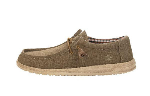 Hey Dude Wally Canvas Shoes-Nut