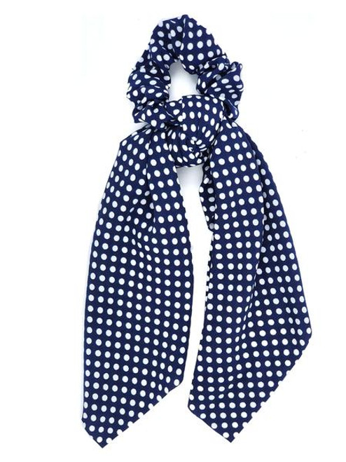 Girlie Girl Originals Tie Scrunchie Navy Dot