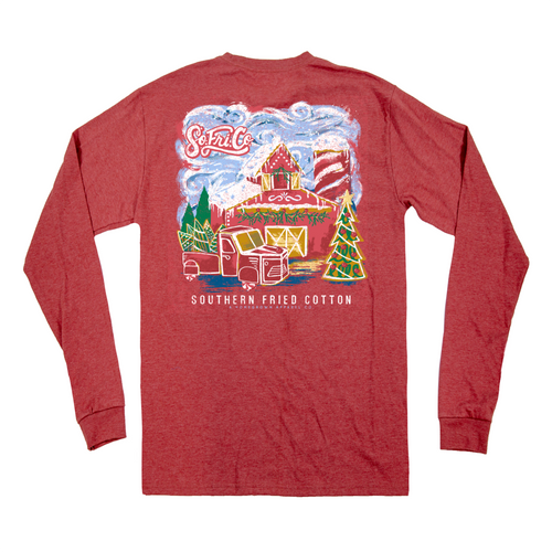 Southern Fried Cotton Gingerbread Barn LS