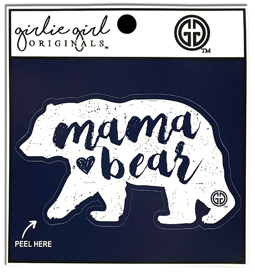 Girlie Girl Originals Mama Bear Navy Decal/Sticker