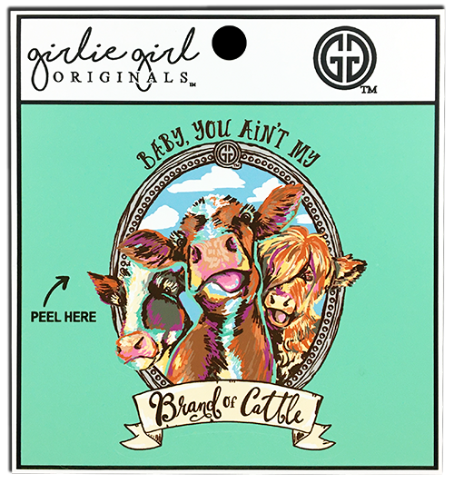 Girlie Girl Originals Brand of Cattle Decal/Sticker
