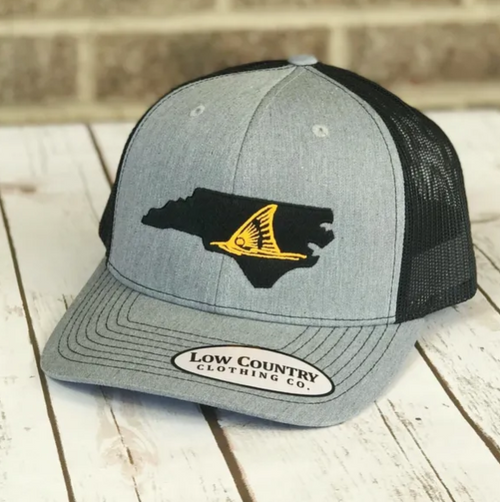 Low Country Clothing NC Red Drum Heather/Black Hat