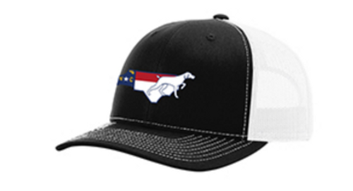 It's All About The South NC Flag Dog Black/White Hat