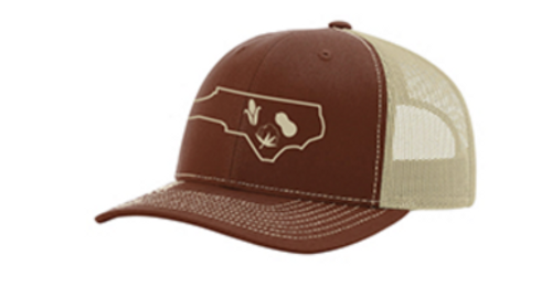 It's All About The South NC Crop Brown/Khaki Hat