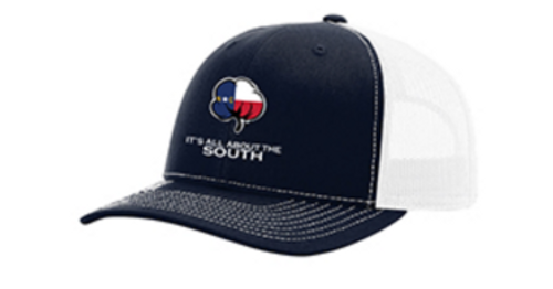 It's All About The South NC Flag Cotton Navy/White Hat