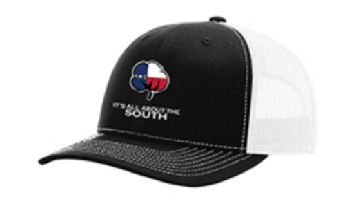 It's All About The South NC Flag Cotton Black/White Hat