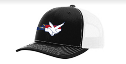 It's All About The South NC Flag Duck Black/White Hat