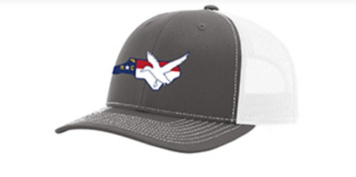 It's All About The South NC Flag Duck Charcoal/White Hat