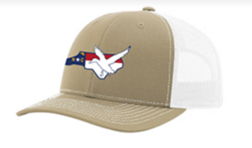 It's All About The South NC Flag Duck Khaki/White Hat