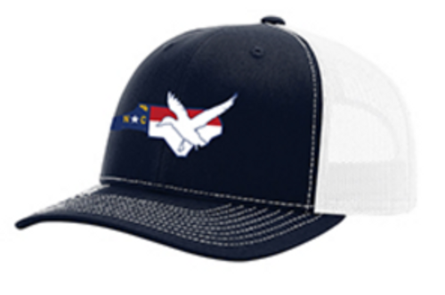 It's All About The South NC Flag Duck Navy/White Hat