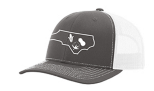 It's All About The South NC Crop Charcoal/White Hat