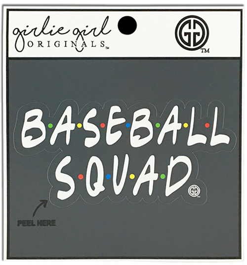 Girlie Girl Originals Baseball Squad Decal