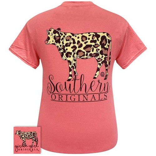 Girlie Girl Originals Leopard Print Cow Coral Silk