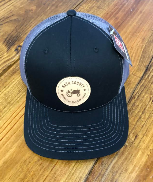 Round Here Clothing Nash County Tractor Patch Black/Charcoal Hat