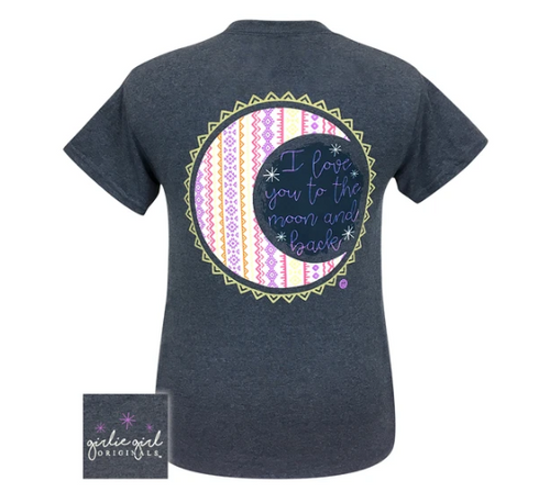 Girlie Girl Originals Love You to Moon Heather Navy