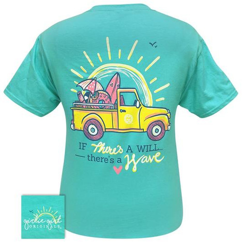 Girlie Girl Originals There's A Wave Scuba Blue