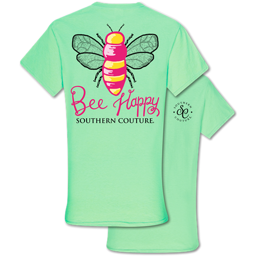 Southern Couture Bee Happy Mint Green