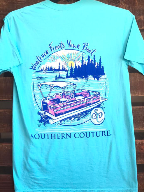 Southern Couture Floats Your Boat Lagoon Blue