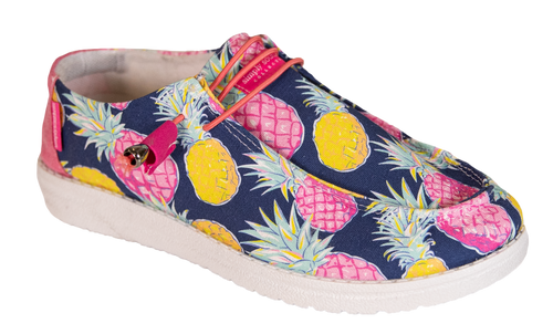 Simply Southern Pine Print Navy Slip On Shoes