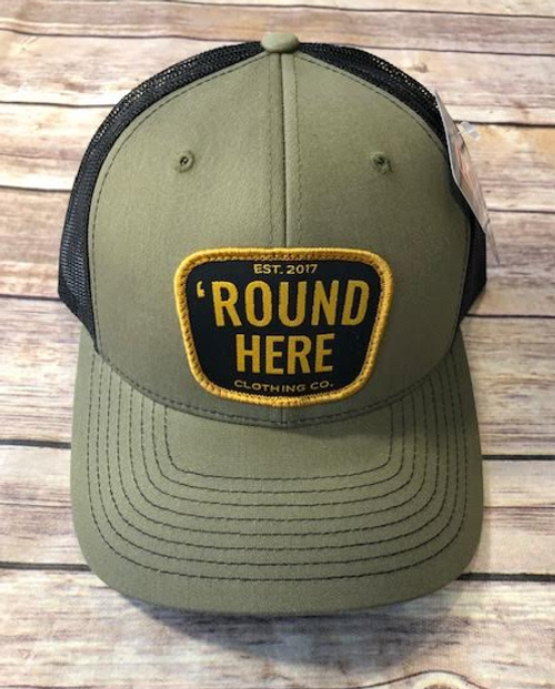 Round Here Clothing Gold Patch Loden/Black Hat
