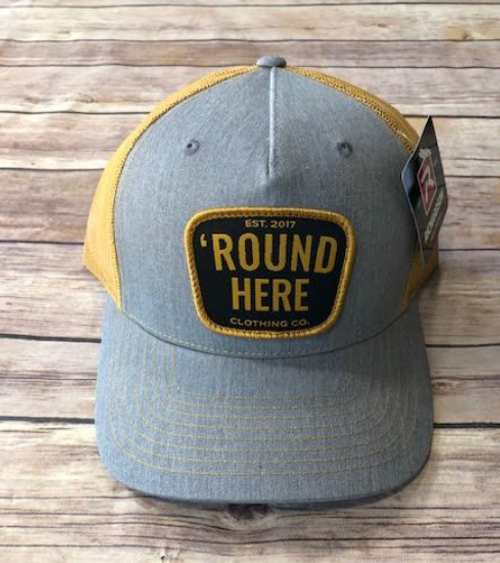 Round Here Clothing Gold Patch Heather Grey/Amber Gold Hat
