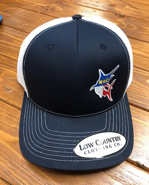 Low Country  Clothing NC Flag Marlin Navy/White Hat