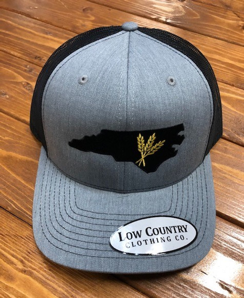 Low Country NC Wheat Heather/Black Hat