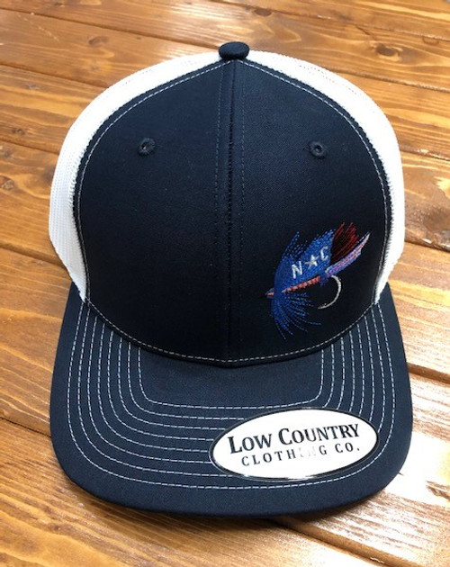 Low Country Clothing NC Fly Navy/White Hat