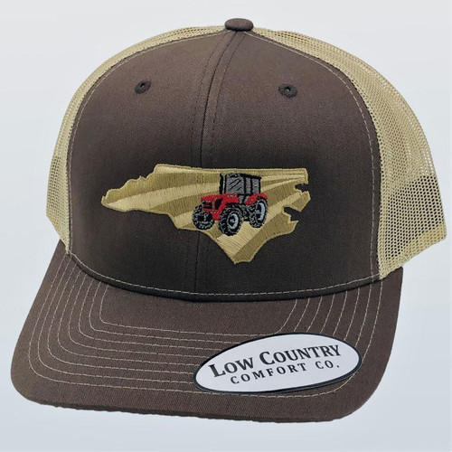 Low Country Clothing NC Tractor Red Brown/Khaki Hat