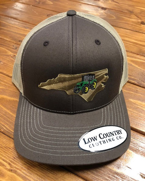 Low Country Clothing NC Tractor Green Brown/ Khaki Hat