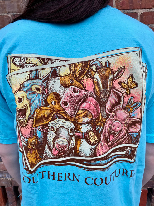Southern Couture Farm Selfie Lagoon Blue
