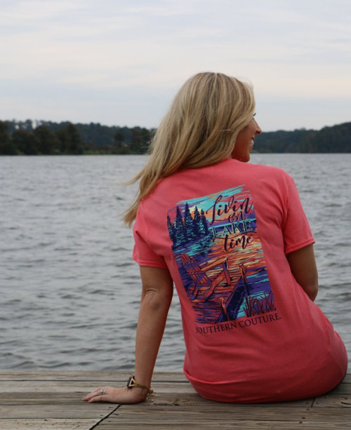 Southern Couture Livin On Lake Time Coral Silk
