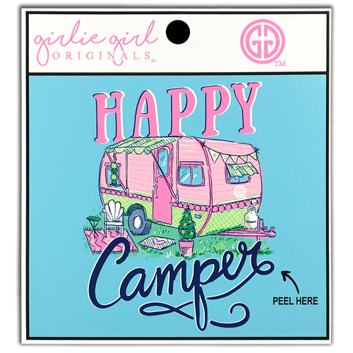 Girlie Girl Originals Happy Camper Decal/Sticker