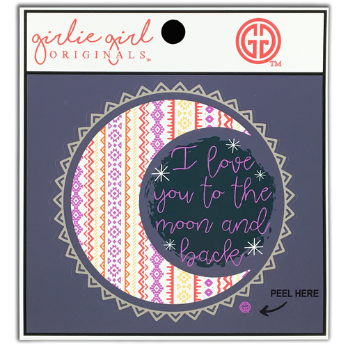 Girlie Girl Originals Love You to Moon and Back Decal/Sticker
