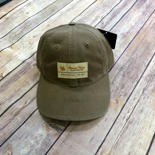 Round Here Clothing Tobacco Label Nash County Solid Driftwood Hat