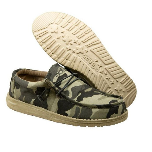 Hey Dude Men's Camo Wally Canvas Shoes