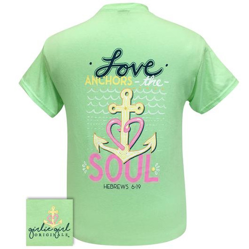 Girlie Girl Originals Love Anchors Mint Green