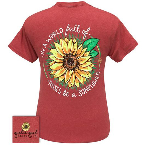 Girlie Girl Originals World Sunflower Heather Red
