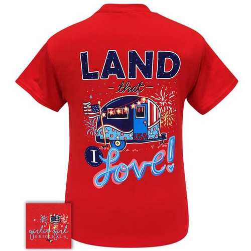 Girlie Girl Originals Land That I Love Red Tee