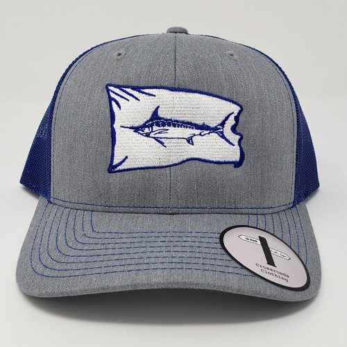 Eastern Offshore Marlin Release Flag Heather Grey/Navy Hat