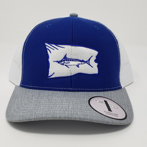 Eastern Offshore Marlin Release Flag Royal Blue/White/Grey Hat