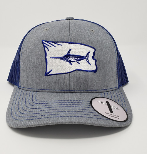 Easter Offshore Swordfish Release Flag Heather Grey/Navy Hat