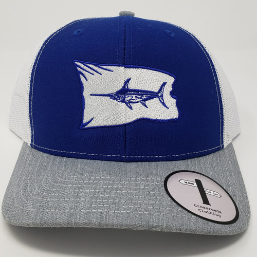 Eastern Offshore Swordfish Release Flag Royal Blue/White/Grey Hat